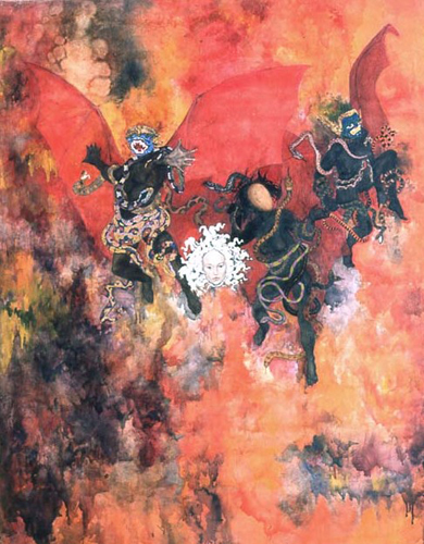 109 utermohlen 1966 the furies canto9 152x120cm oiloncanvas