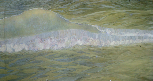 utermohlen-1962-the wave-46x86cm-oil on canvas