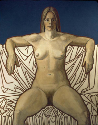 utermohlen-1973-bather-122x96cm-oil on canvas