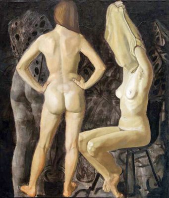 utermohlen-1974-three figures-oil on canvas-122x109cm