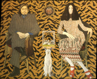 utermohlen-1971-three trapped tigers-122x152cm-oil on canvas