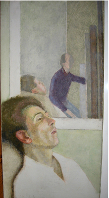 utermohlen-1982-chris-oil on canvas-81x40cm-bloomfield rd