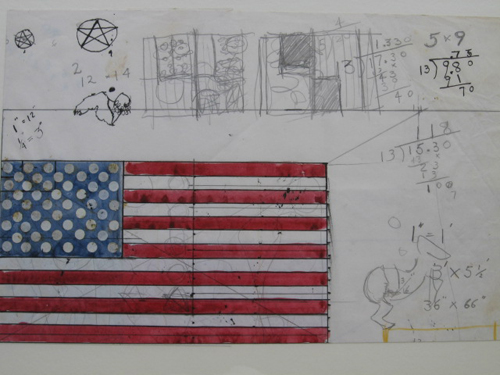 utermohlen 1970 study for old glory pencil ink on paper bob