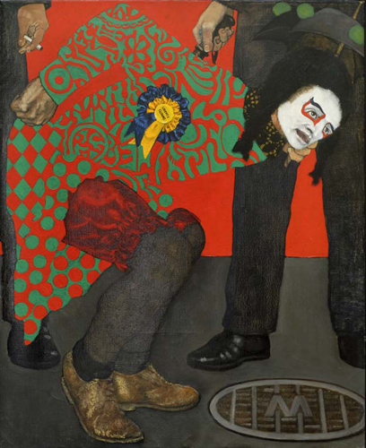 utermohlen-1970-liberty-clown-oiloncanvas-86x71cm