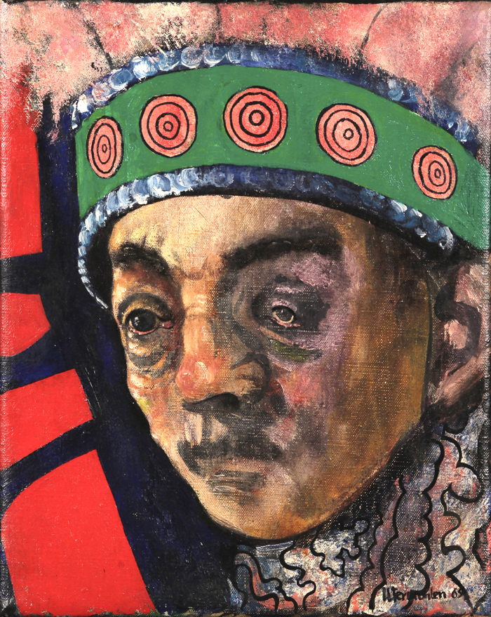 utermohlen 1969 mummers an old man oil on canvas 255x205mm ballot 700