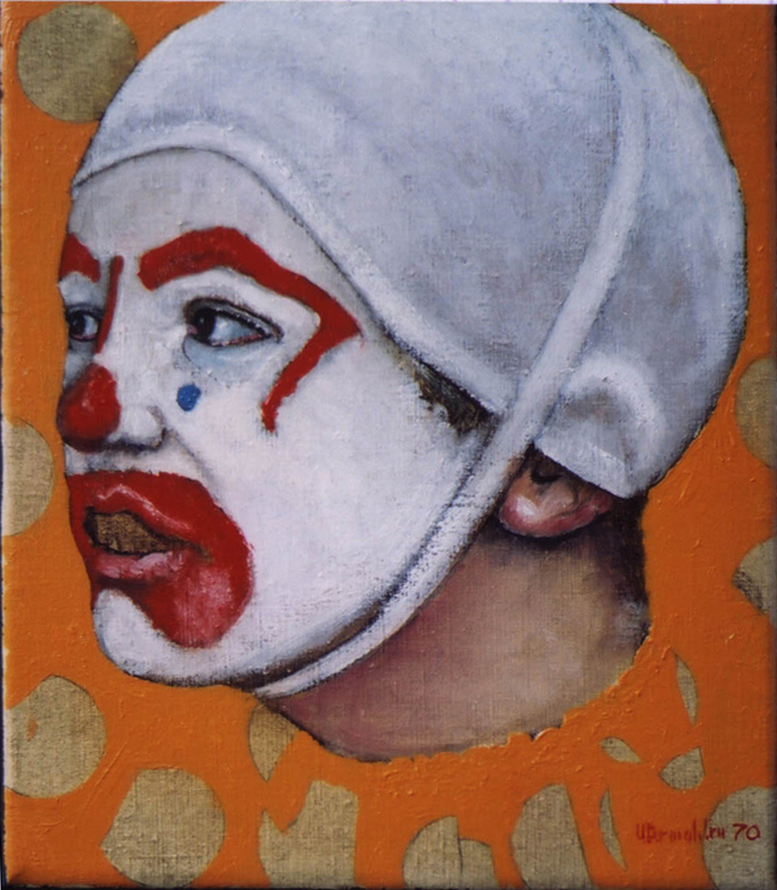 utermohlen 1970 mummers boy mummer oil on canvas 255x200mm gallery deendt 71 700