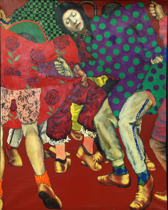 utermohlen 1970 mummers de niro comic club oil on canvas 121x76cm 700