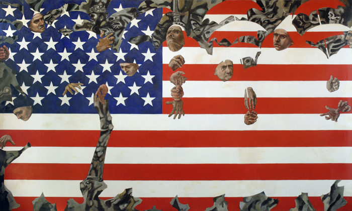 utermohlen 1970 mummers old glory oil on canvas 180x301cm 700