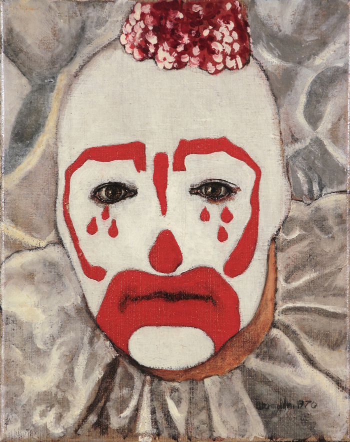 utermohlen 1970 mummers red tears ol on canvas 255x200mm gallery deendt 71 ballot 700