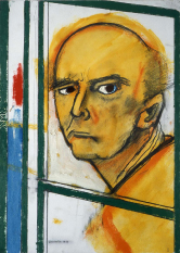 38 self-portrait-with-easel 1996