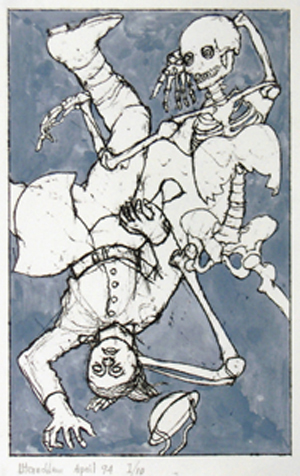 07-utermohlen-1994-ten-poems-the show-lithograph